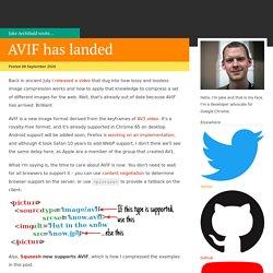 AVIF has landed