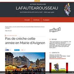 Pas de crèche cette année en Mairie d'Avignon ... - LAFAUTEAROUSSEAU