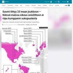 Suomi liittyy 23 maan joukkoon – Näissä maissa oikeus avioliittoon ei riipu kumppanin sukupuolesta