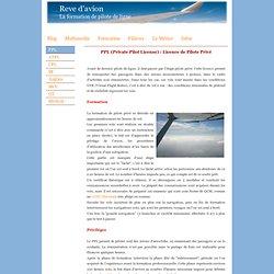 Rêve d'avion - Formation - PPL : Pilote privé