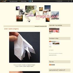 avion / plane (origami) - image du jour d'Anoukk