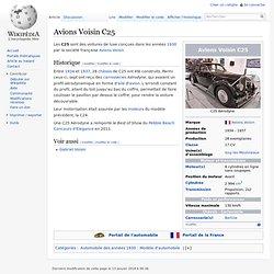 Avions Voisin C25