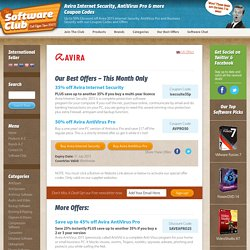 50% off Avira 2015: Coupon Codes & Offers