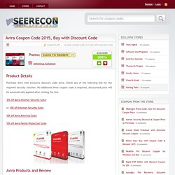 Avira Coupon Code 2015, Buy with Discount Code