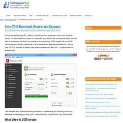 Avira 2015 - Download, Install guide and Coupons