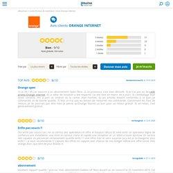 Avis Orange Internet - 84 avis clients de Orange Internet