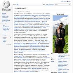 Avital Ronell