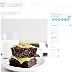 Avocado Brownies with Avocado Frosting