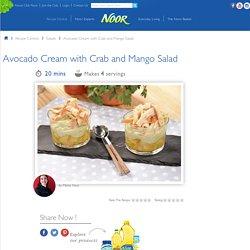 Avocado Cream with Crab and Mango Salad Recipe