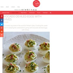 Avocado Deviled Eggs with Chives - What's Gaby Cooking