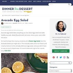 Egg salad à l'avocat