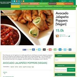 Avocado Jalapeño Poppers [Vegan]