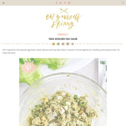 Tuna Avocado Egg Salad - Eat Yourself Skinny