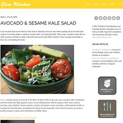 Avocado & Sesame Kale Salad – Glow Kitchen