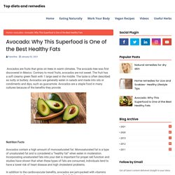 Avocado: Why This Superfood is One of the Best Healthy Fats