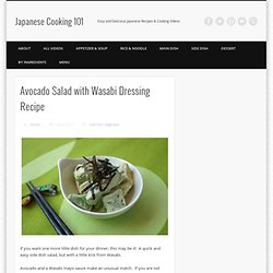 Avocado Salad with Wasabi Dressing Recipe