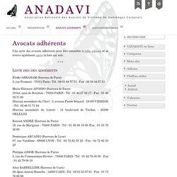 Avocats adhérents - ANADAVI