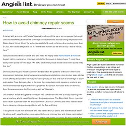 How to avoid chimney repair scams