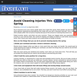 Avoid Cleaning Injuries This Spring