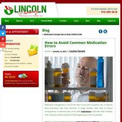 How to Avoid Common Medication Errors