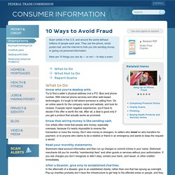 10 Ways to Avoid Fraud