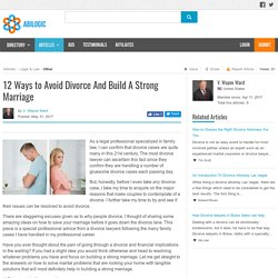 12 Ways to Avoid Divorce And Build A Strong Marriage