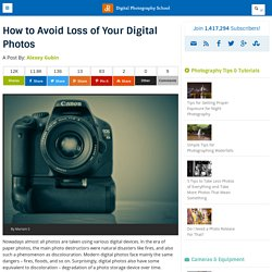 How to Avoid Loss of Your Digital Photos