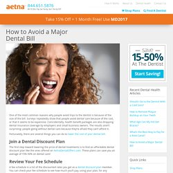 How to Avoid a Major Dental Bill