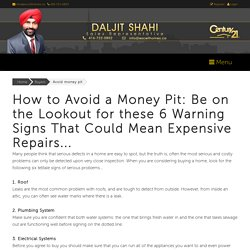 Avoid money pit