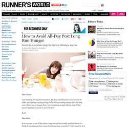 How to Avoid All-Day Post Long Run Hunger
