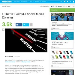 HOW TO: Avoid a Social Media Disaster