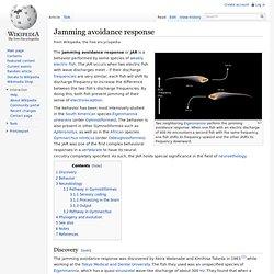 Jamming avoidance response