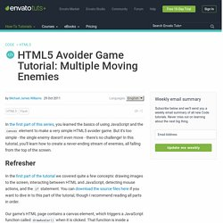 HTML5 Avoider Game Tutorial: Multiple Moving Enemies