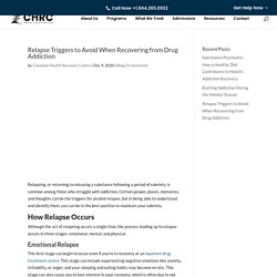 Relapse Triggers to Avoid When Recovering from Drug Addiction