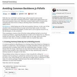 Avoiding Common Backbone.js Pitfalls