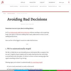 Avoiding Bad Decisions