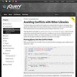 Using jQuery with Other Libraries