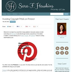 Avoiding Copyright Pitfalls on Pinterest