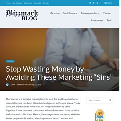 Stop Burning Holes in Your Pocket! Don't be a Marketing Sinner