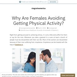 Why Are Females Avoiding Getting Physical Activity?