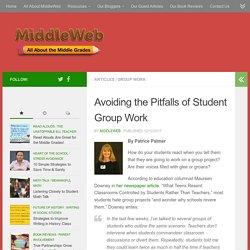 Avoiding the Pitfalls of Student Group Work