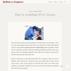 Tips to Avoiding HVAC Scams