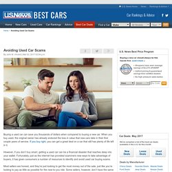 Avoid Used Car Scams