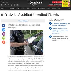 6 Tricks to Avoiding Speeding Tickets