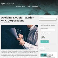 Avoiding Double-Taxation on C Corporations