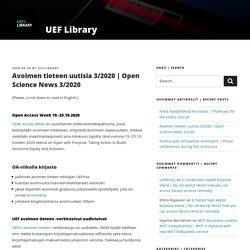 Avoimen tieteen uutisia 3/2020