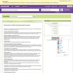 Etsi avoimia työpaikkoja ja tallenna CV