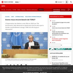 Avons-nous encore besoin de l'ONU?