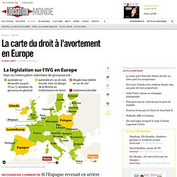 La carte du droit à l'avortement en Europe