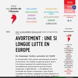 Avortement : une si longue lutte en Europe